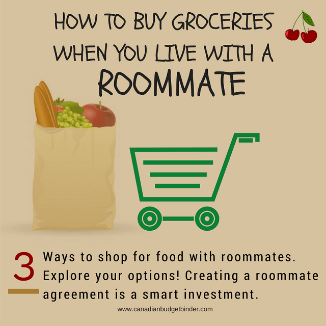 How To Buy Groceries When You Live With A Roommate : The