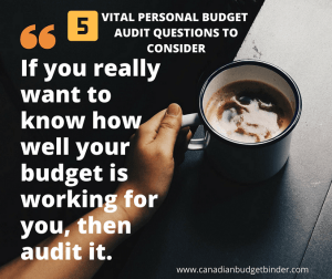 5 Vital Personal Budget Audit Questions To Consider