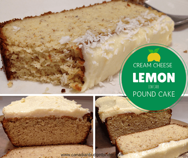 Low Carb LCHF Cream Cheese Lemon Pound Cake