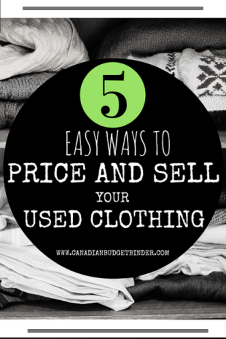 5 easy ways to price and sell your used clothing Canada