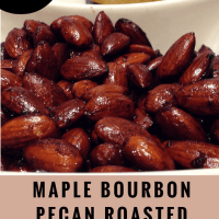 keto maple-bourbon-pecan-roasted-almonds-pinterest