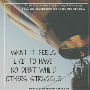 What It Feels Like To Have No Debt When Others Struggle : November 2016 Net Worth Update (+1.58%)