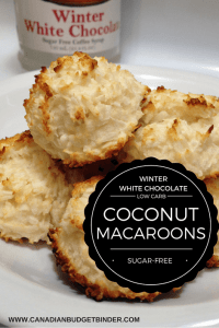 keto WINTER WHITE CHOCOLATE LOW CARB MACAROONS PINTEREST