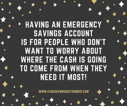 having an emergency savings account