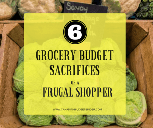 6 Grocery Budget Sacrifices Of A Frugal Shopper : The Grocery Game Challenge 2017 #2 Feb 6-12