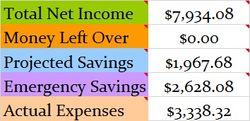 January 2017 Month Income and Expenses