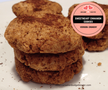 sweetheart cinnamon cookies Facebook low carb sugar free vs crunchy