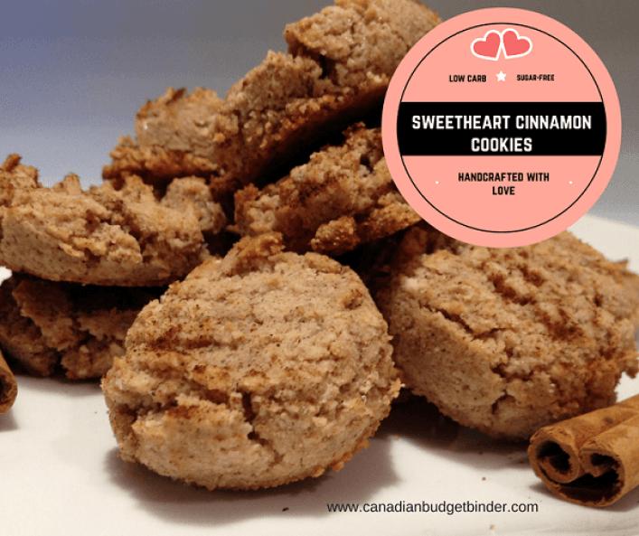 Keto Sweetheart Cinnamon Cookies