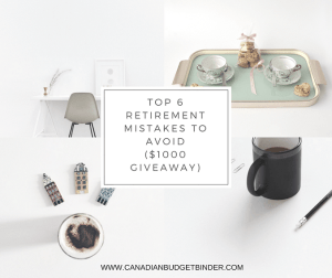 Top 6 Retirement Mistakes To Avoid [$1000 Give Away!] : The Saturday Weekend Review #214