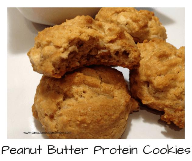 peanut butterketo PEANUT BUTTER PROTEIN COOKIES