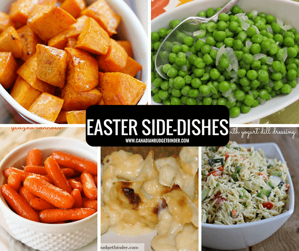 EASTER MENU SIDE DISHES