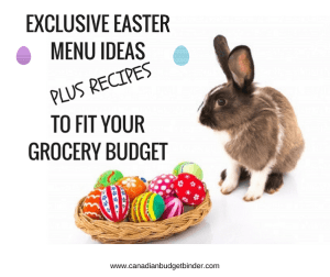 Exclusive Easter Menu Ideas To Fit Your Budget : The Grocery Game Challenge 2017 #1 Apr 3-9