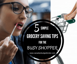 GROCERY SHOPPING TIPS FOR THE BUSY SHOPPER