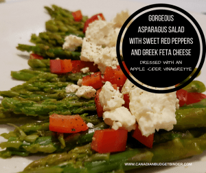 Gorgeous Asparagus Salad with Greek Feta Cheese (Low-Carb)