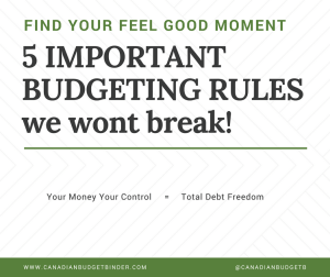 5 Important Budgeting Rules We Won't Break : Our April 2017 Budget Update