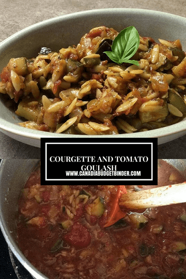 COURGETTE AND TOMATOGOULASH pint