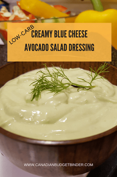 CREAMY BLUE CHEESEAVOCADO SALAD DRESSING PINT
