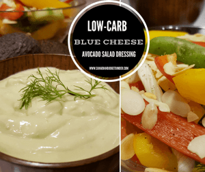 Creamy Avocado Blue Cheese Salad Dressing (Low-Carb)