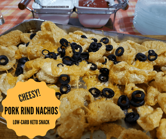 LOW-CARB CHEESY PORK RIND NACHOS KETO SNACK