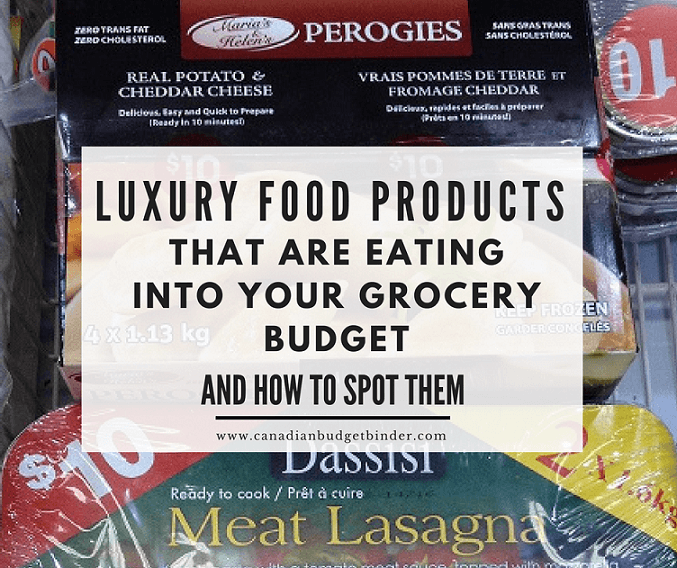 Luxury Food Products That Are Eating Into Your Grocery Budget : The Grocery Game Challenge 2017 3&4 May 15-28