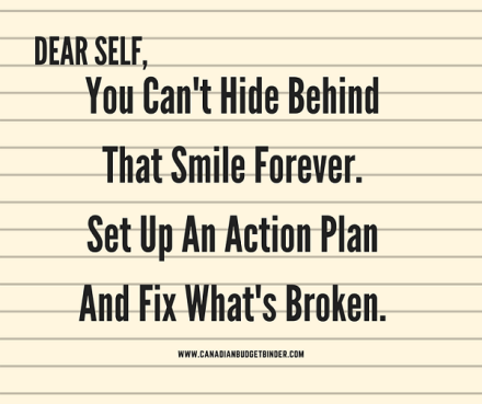 dear self 2 you can't hide behind that smile forever