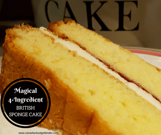4 ingredient british sponge cake 4 FB