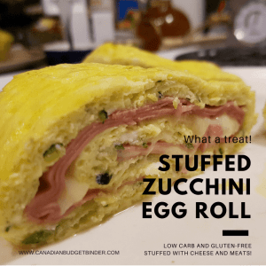 Low Carb Baked Stuffed Zucchini Egg Roll