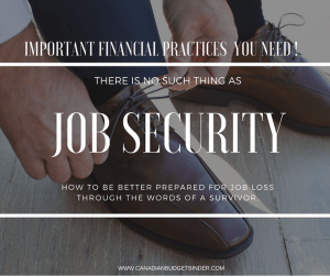 There is no such thing as JOB SECURITY