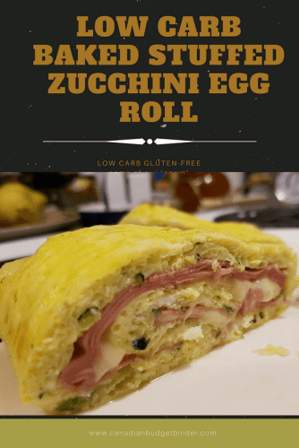 low carb baked zucchini egg roll