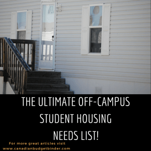 The Ultimate Off-Campus Student Housing Needs List : The Saturday Weekend Review #232