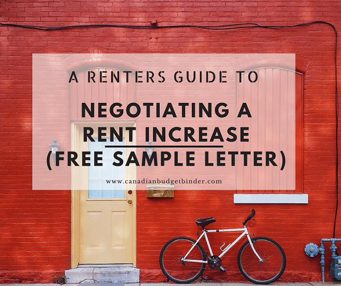 a guide to help you negotiate a rent increase  sample