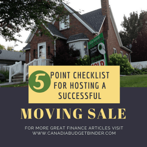 5 Point Checklist For Hosting A Successful Moving Sale : The Saturday Weekend Review #233