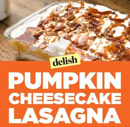 pumpkin cheesecake lasagna