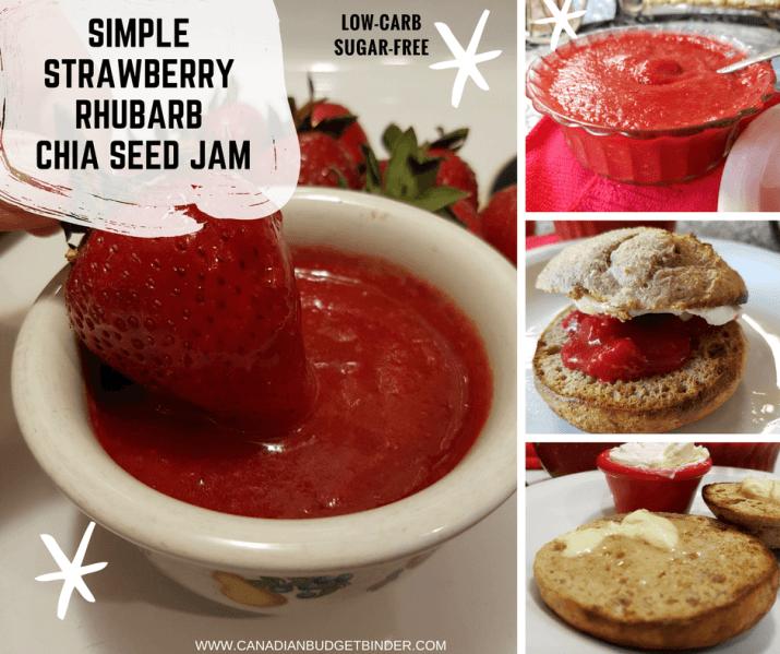 SIMPLE STRAWBERRY RHUBARB CHIA SEED JAM FB4