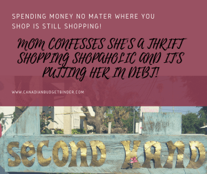 Debt Free Mom Admits Becoming A Thrift Shopping Shopaholic : The Saturday Weekend Review #235