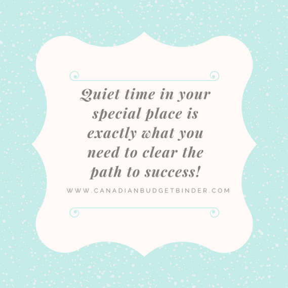 quiet time in your special place success