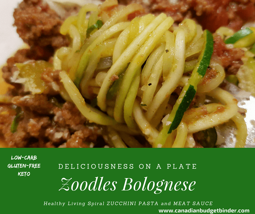 35 Minute Zoodles Bolognese (Zucchini Pasta w/Meat Sauce)