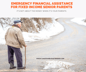 Emergency Financial Assistance For Fixed Income Senior Parents : The Saturday Weekend Review #237