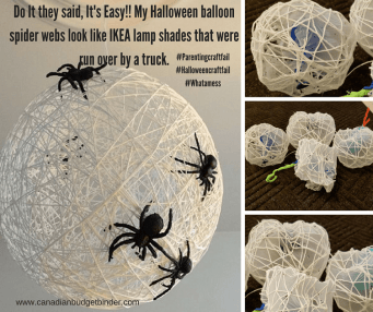 halloween balloon spider craft fail