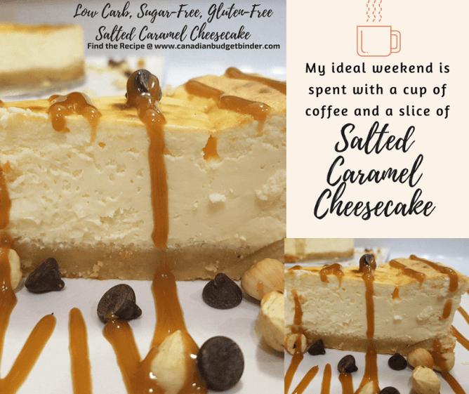 keto sugar-free salted caramel cheesecake