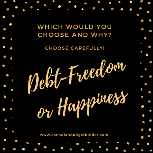 debt freedom or happiness quote