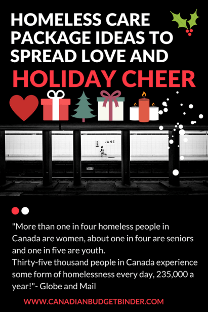 homeless care packages Canada winter Christmas