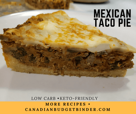 LOW CARB MEXICAN TACO PIE FB