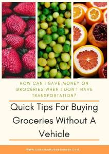 how to buy groceries without a vehicle