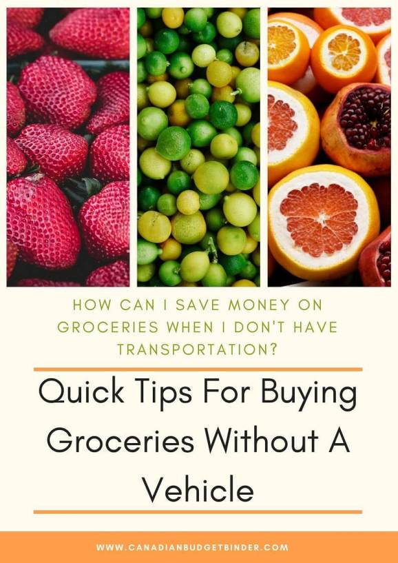 tips for buying groceries without a vehicle