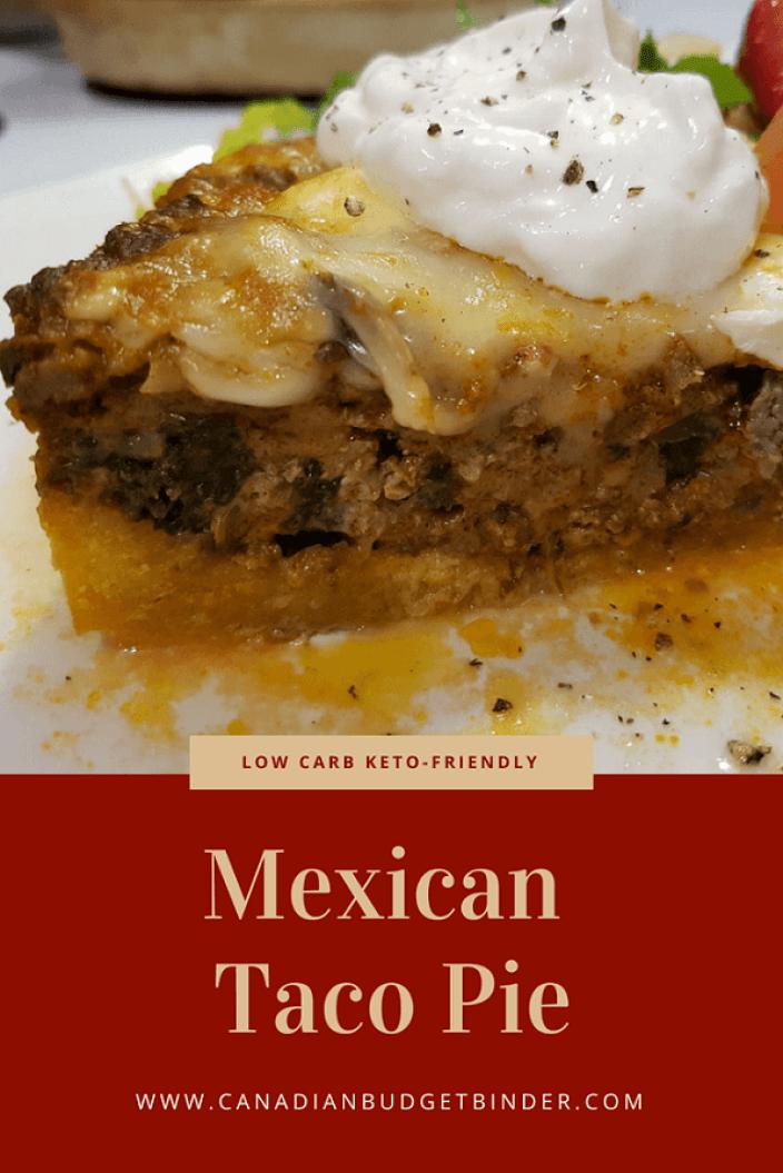 taco keto pie mexican carb low dish friendly deep
