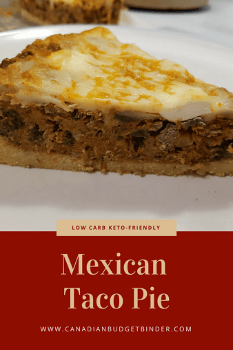 low carb keto-friendly Mexican Taco Pie Pint.