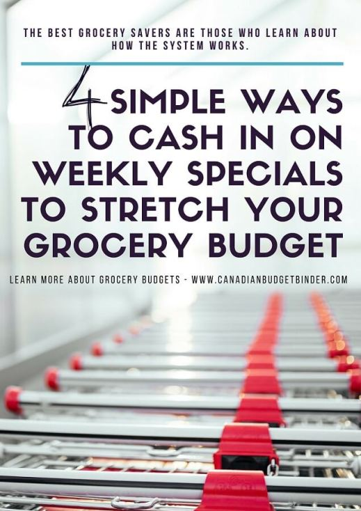 weekly specials grocery budget savings how to