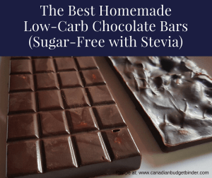 Homemade Chocolate Bars with Stevia (Sugar-Free, Low-Carb)