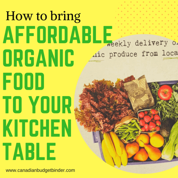 how to bring affordable organic food to your kitchen table